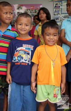 can help cover the cost of running catechism programs for children in remote communities in Thailand.