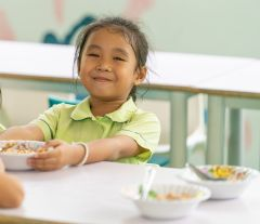 can help provide nutritious meals and snacks for the children at the Kindergarten Centre.