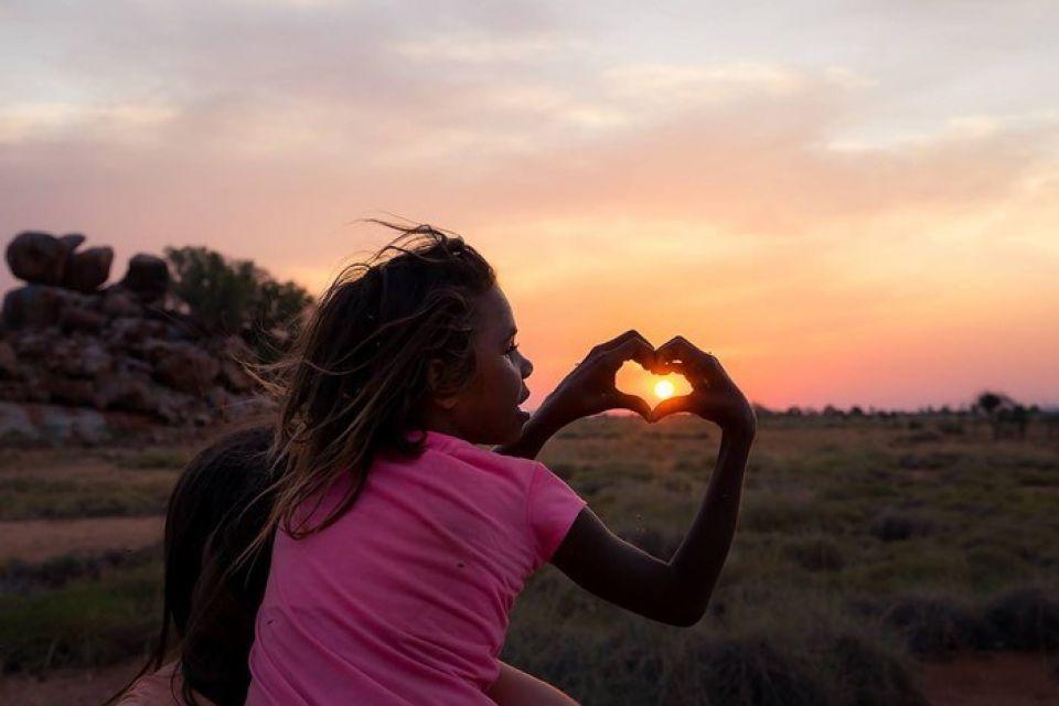 Sun love heart image